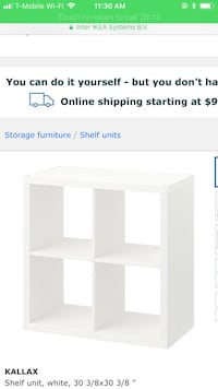 White wooden 3-tier shelf screenshot Gaithersburg, 20878