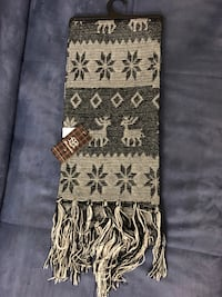 Black and white tribal print textile new .