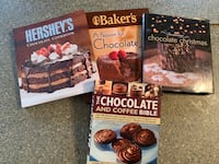 Set of 4 CHOCOLATE BAKING COOKBOOKS, Excellent condition $8 for all.