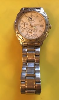 round silver-colored chronograph watch with link bracelet Cottonwood, 96022