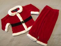 Toddler Two Piece Santa Claus Suit Size 2T Like New Toronto, M9C 4W1