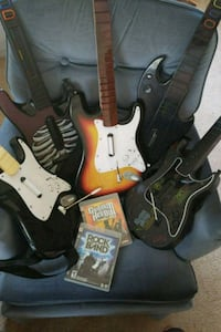 Guitar hero and Rock band with 5 guitars Rock Island, 61201