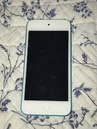 blue iPod touch