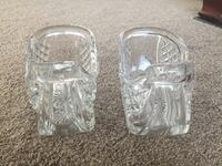Two clear cut glass cups St. Louis, 63125