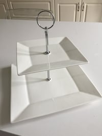 Brand new White ceramic 2-tier cake stand  Mississauga, L4Z