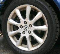gray 5-spoke car wheel with tire Lakeville, 02347