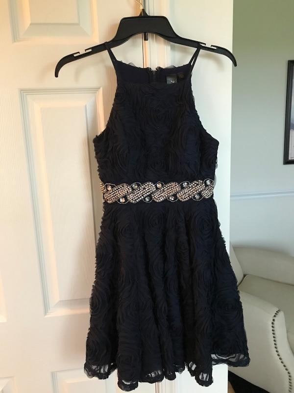 Homecoming dress- color Navy size 1