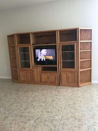 brown wooden TV hutch  Fort Myers, 33907