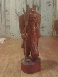 brown wooden man with a stick figurine, antique  Newport News, 23607