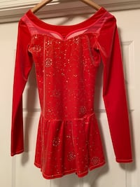 Girls red ice scating dress Fort Myers, 33916