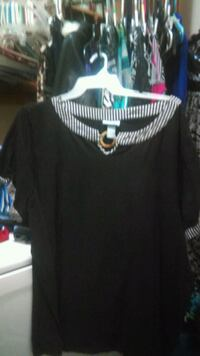 black and white scoop-neck shirt Sparks, 89436
