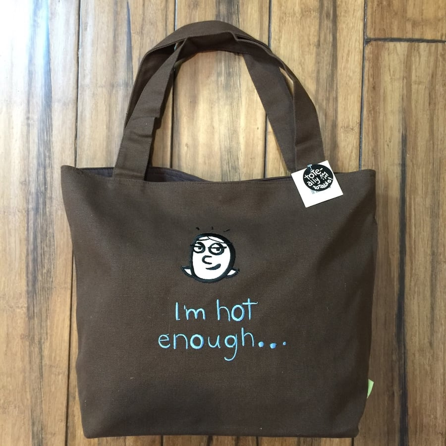 Global warming canvas tote bag