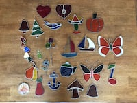 Stained Glass Window Decor All Seasons Holidays Christmas LOT Haverhill, 01832