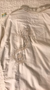 Guess vintage white causal button down
