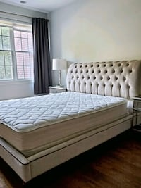 Luxury Uphostered Queen Bed and Mattress with box spring Manhasset, 11030