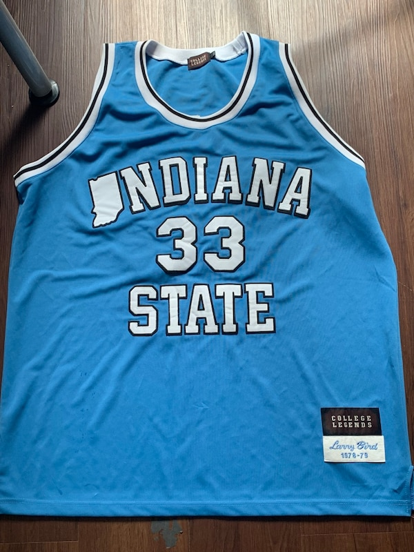 new style 699cd fe294 Larry Bird Indiana State jersey