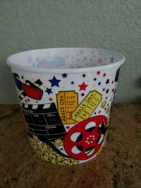 Brand new large popcorn tub container