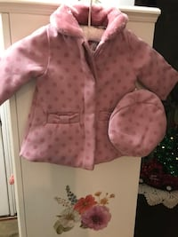Pretty! New Pink Little Girls Coat with Hat
