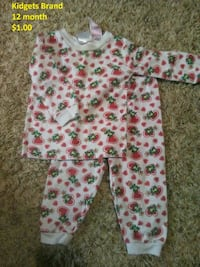 baby's white and pink floral footie pajama Iredell County, 28115