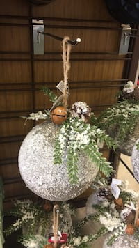 Styrofoam painted  hanging ball w/bells and greens. Pick up in Smithville  West Lincoln, L0R