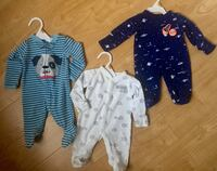 Newborn - baby's teal, white, and blue footies