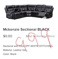Leathers sectional with recliners Bulverde, 78163