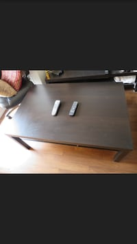 rectangular brown wooden coffee table Toronto, M3J 3E5