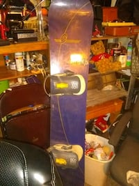 "64"" Sims snowboard with switch bindings"