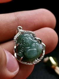 silver and green gemstone ring Singapore, 098633