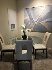 white wooden dining table set Orlando