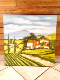Tuscan landscape painting on canvas