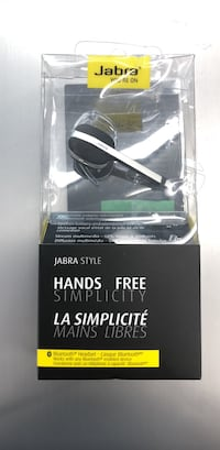 Jabra Style , Bluetooth headset, HD voice battery saving mode and with 6 hour battery life , Compatible with ios and android  Toronto, M9V 2X6
