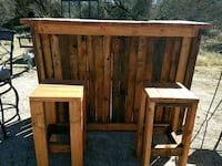 brown wooden table with chairs El Paso, 79934