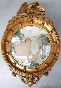 Antique Federal Convex Mirror Lighthouse Point, 33064