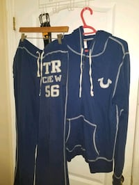 True religion tracksuit pants m hoodie l working condition  Mississauga, L5W 1L9