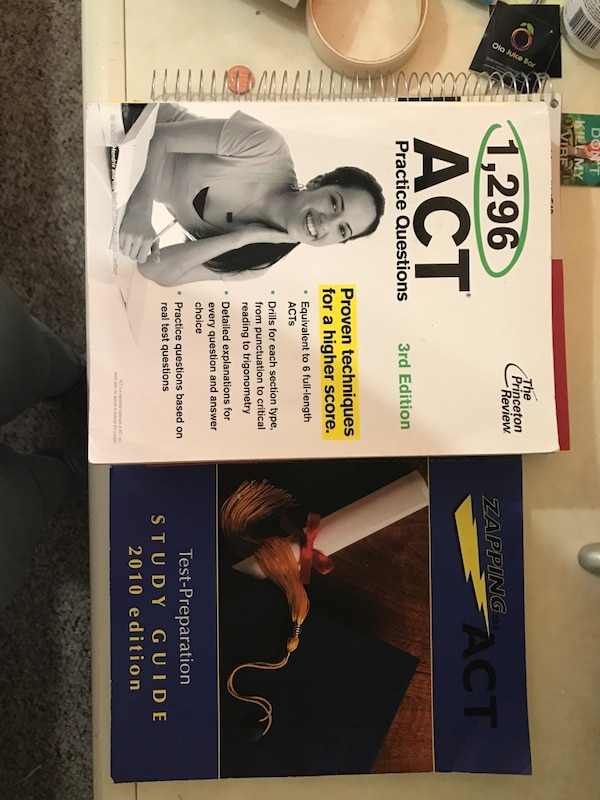 1,296 act practice questions book