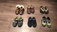 toddler's six pairs of shoes North Middlesex, N0M