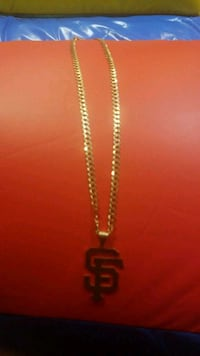 14kt Gold Necklace SF Giants San Francisco