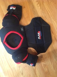 Large hockey shoulder and chest pads Millville, 01529