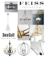 Feiss Murray and Sea Gull Light Fixtures on Online Auction Alexandria
