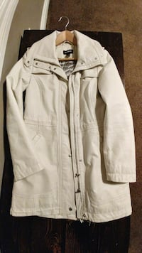 White leather jacket from Danier Calgary, T3P 1B7