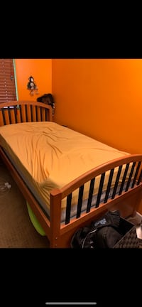 FREE Child's Bedroom Set - Light Wood with Dark Blue Accents