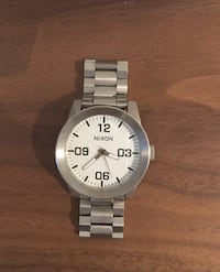 Nixon Watch - Stainless Steel band with white face Washington, 20003