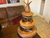 South African Hand Carved Lazy Susan
