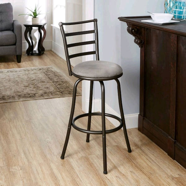 Awesome Mainstays Adjustable Height Barstool Hammered Bronze Finish Multiple Cjindustries Chair Design For Home Cjindustriesco