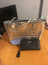 Guess tote/purse/handbag and wallet set (not matching)