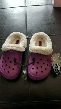 Brand new with tags. Size 2 Crocs Slippers  Moncton, E1H 2H1