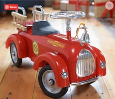 Pottery Barn - Fire Truck Ride-On Toy