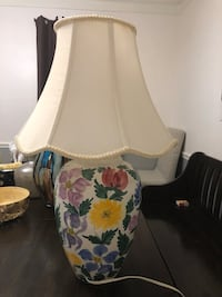 white and pink floral table lamp Olney, 20832