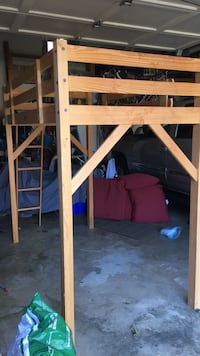 Solid wood loft bed frame- TimberNest Burke, 22015
